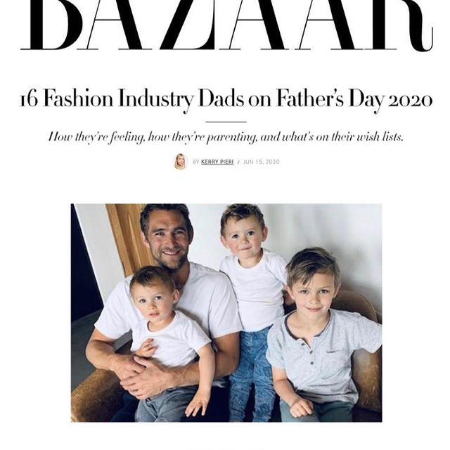 Happy Father's Day to all the dads out there 💥 being these monkeys dad is what life is all about! Full of love, laughter, happiness, hugs, occasional tears, and lots of 💩 nappies. Il be here for you three as long as I live and will be behind you every step of the way ❤️ Interview for Harper's Bazaar our now for Father's Day! @bazaaruk @harpersbazaarus #harpersbazaar #fathersday #love ❤️
