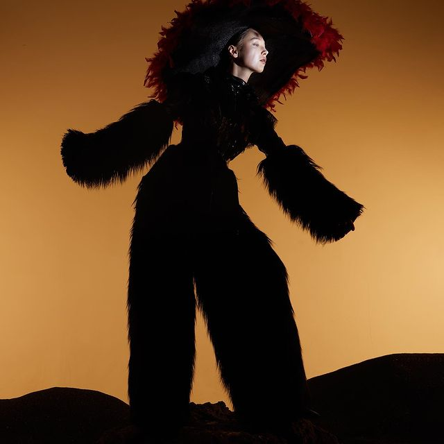 NEWBORN ( @sickymag ) Photographer  LU PENG  Styling  XUXU  Make up & Hair  LUANJIE XIONG Model  VEE(Modernmodels) Collection  BAN XIAOXUE/ ANNAKIKI / Yiwei Wu Accessories|才华有限协会
