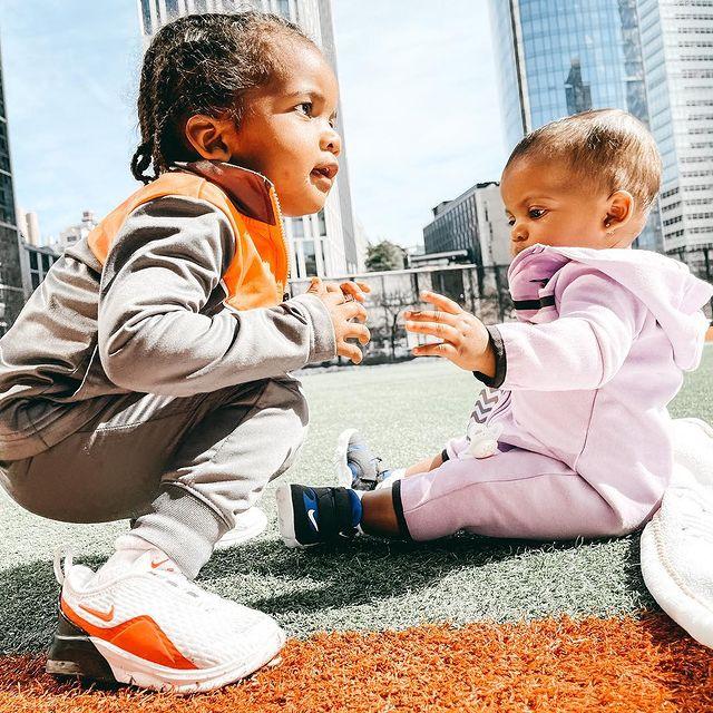 It's a bond 🧡  . . . . . .  #siblings #bigbrother #littlesister #toddlerlife #babygirl