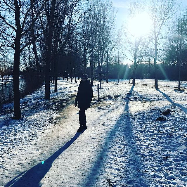 Enjoying winter wonderland before it all disappears again 👩🏻🤝👨🏼