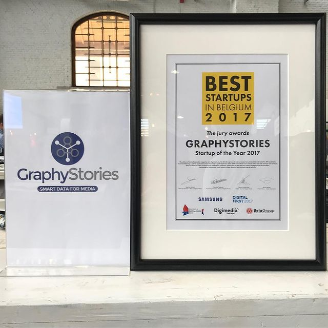 Another step, another achievement. GraphyStories - Best StartUp in Belgium #WeAreBigData #dreamteam #innovation #quality #digitalfirst #graphystories