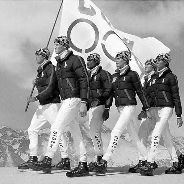 Big time souvenir @ralphlauren 2010 #olympics with the extremely talented 📷 @arnaldoanaya