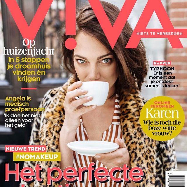 He hoi 🙋🏻♀️! Karen, wie is toch die boze vrouw?! 🤣💛  @viva_nl @esmeefrankenphotography @georginahoppen   #outnow #viva #magazine #cover #deboekers #lekker #outfitje