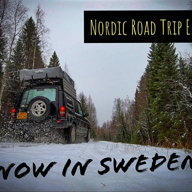 ❄️ Off road through Snow & Sweden!  🎥 While the world seems to go crazy, I Just uploaded my 6th video on YouTube .. Link in bio & story! #Bramsdiscovery #offroad #snowcamping #overlanding