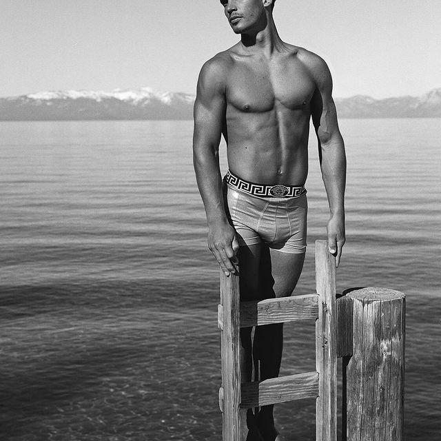 @bruce_weber  Jeff Monroe, Lake Tahoe, CA, 1994 for @versace.