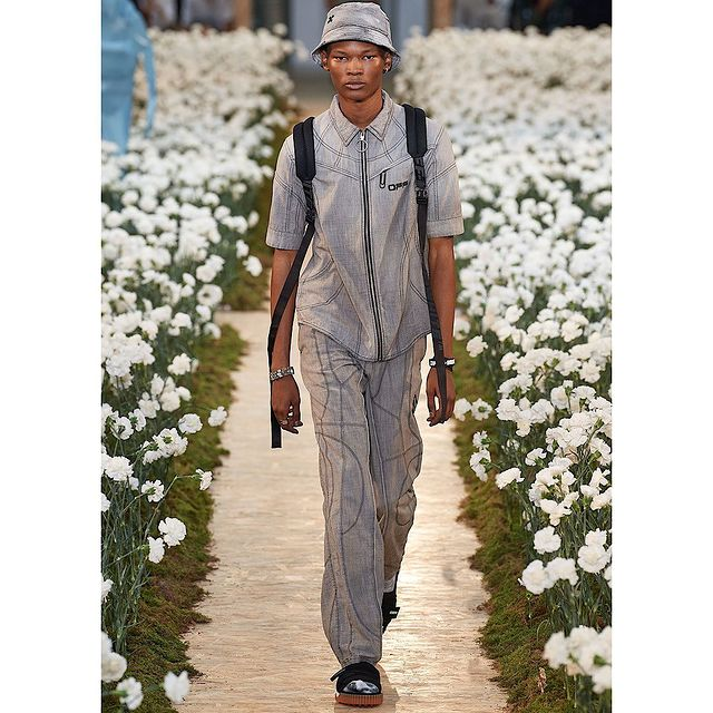 Walked for @off____white for a second time, Thank you to @lizgoldsoncasting and the Off- White team.