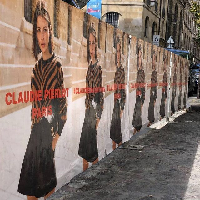 @claudiepierlot 👋🏼🖤 #claudiebackintown campaign