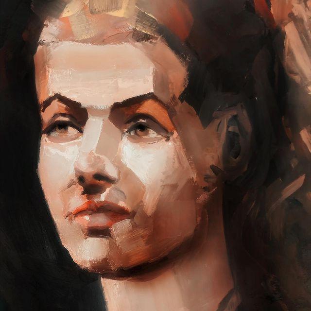 Oil sketch, paper #portrait #oilpainting #oilportrait #art #artistsoninstagram
