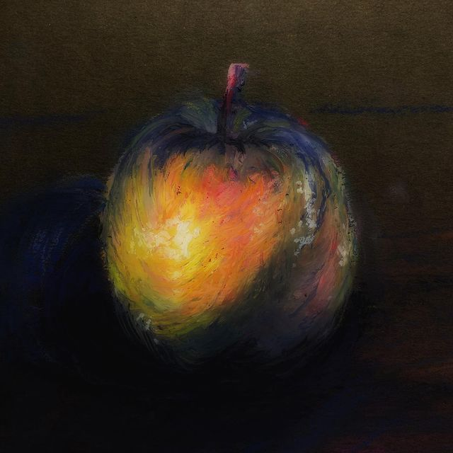 #oilpastel #apple #art #artexcercise #naturemorte #mungyo #mungyopastels