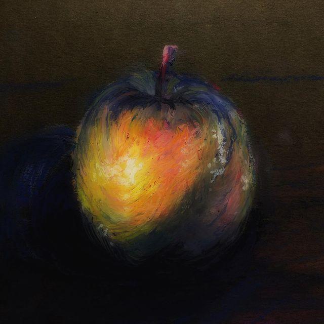 #oilpastel #apple #art #artexcercise #naturemorte #mungyo #mungyopastels