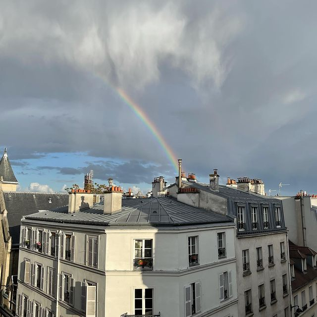 Collection of rainbows shot from my window #parisestmagique