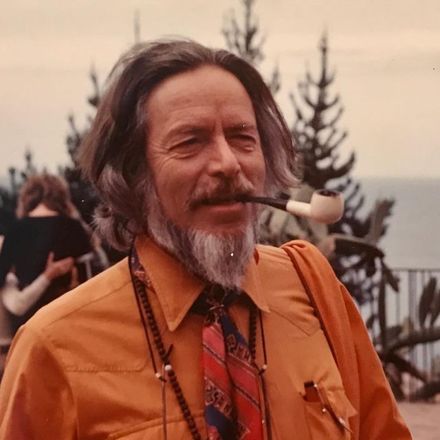 "Alan Watts, he died at the age of 58. He was a heavy smoke and developed an intense alcohol problem later on in life which led him developing a kind of heart disease, so in-turn he died in his sleep and he died young. Alan Watts was a vegetarian. He had been married 3 times, had 7 children. Struggled with depression.  He was a philosopher, speaker, and interpreter of zen buddhism, Taoism, and Hinduism. He wrote well over 25 books. He struggled financially most of his life.  I have been reading one of his books, ""The Wisdom of Insecurity"", I"