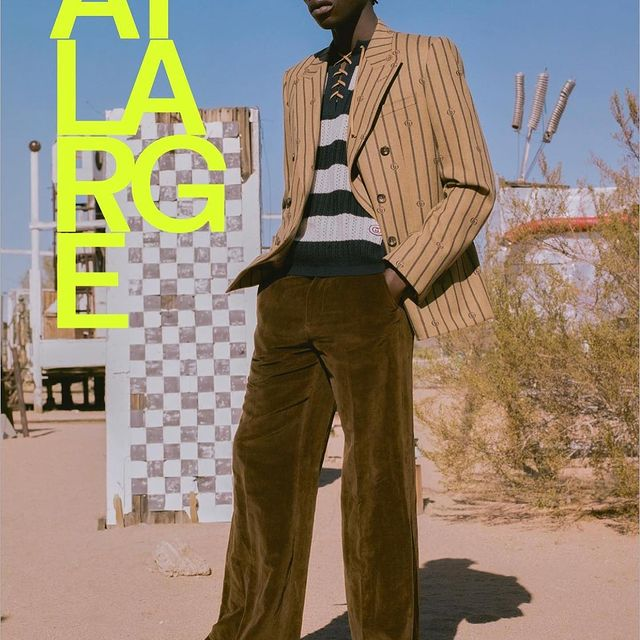 New @atlargemagazine cover and Gucci story out now🤩✨  Creative Director: @randallmesdon_studio Editor-In-Chief: @erikrasmussen_atlarge Photographer: @patmartin__ Stylist: @christianstroble Casting Director: @lkeganl HMU: @omayma.ramzy