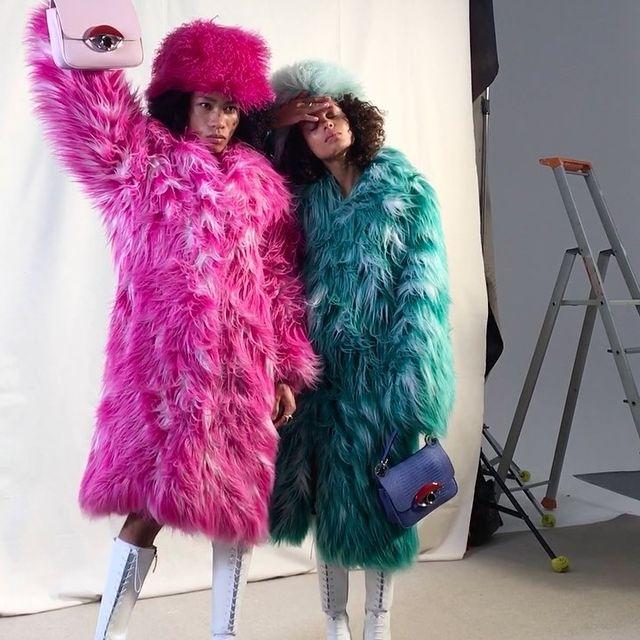 Pink memory from 2019 en full @kenzo par @pascalearnaud I swear this faux fur outfit got me L.I.Q.U.I.D. 🌋🤣