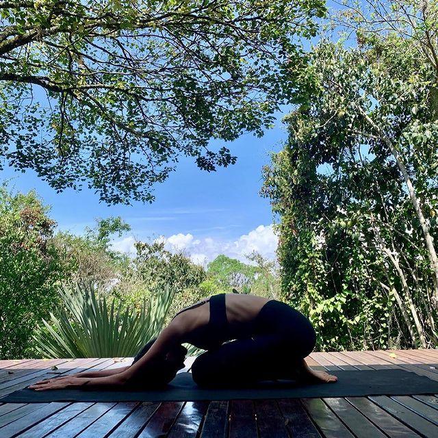 Mi postura favorita de yoga, obviamente la menos exigente