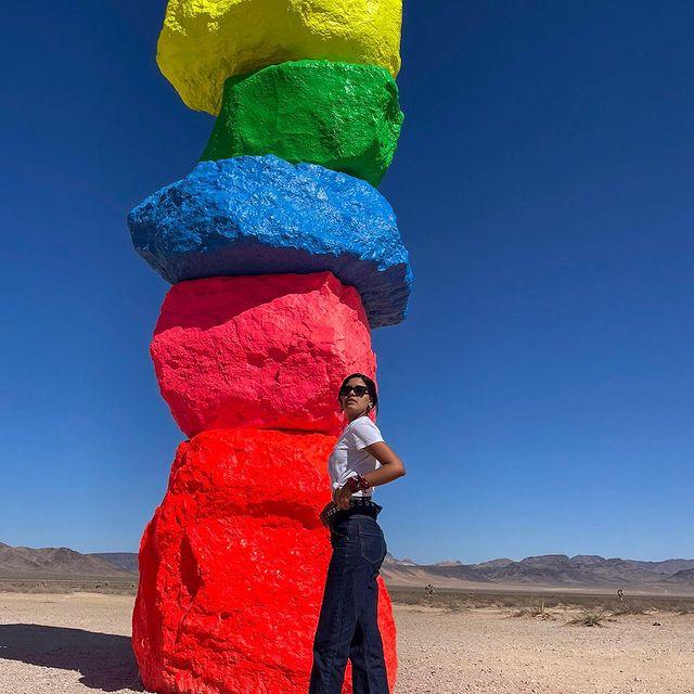 Worth the ride 🌈  #sevenmagicmountains #nevada #desert #rocks #colors #roadtrip