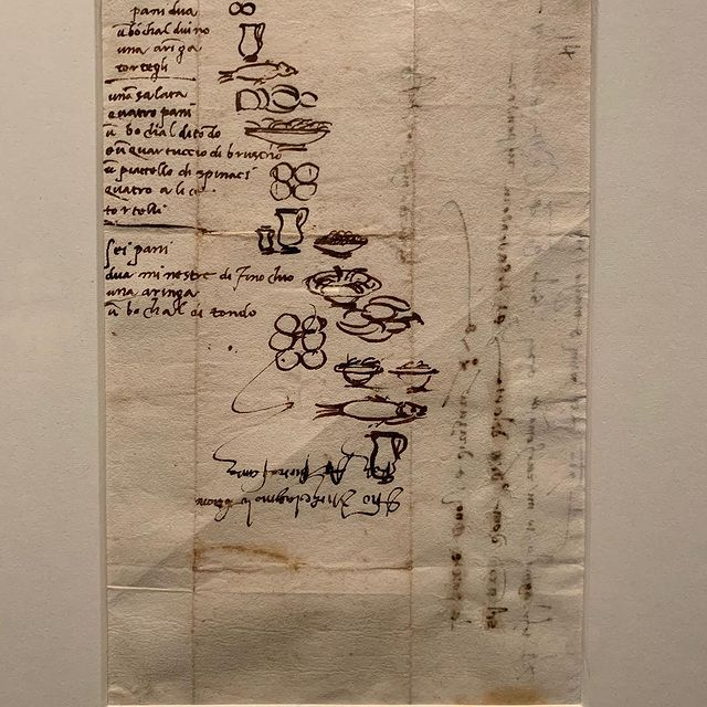 today I got to see Michelangelo's grocery list from 500 years ago and it's once again a gentle reminder that the world is so big and old and I don't know shit and it's great