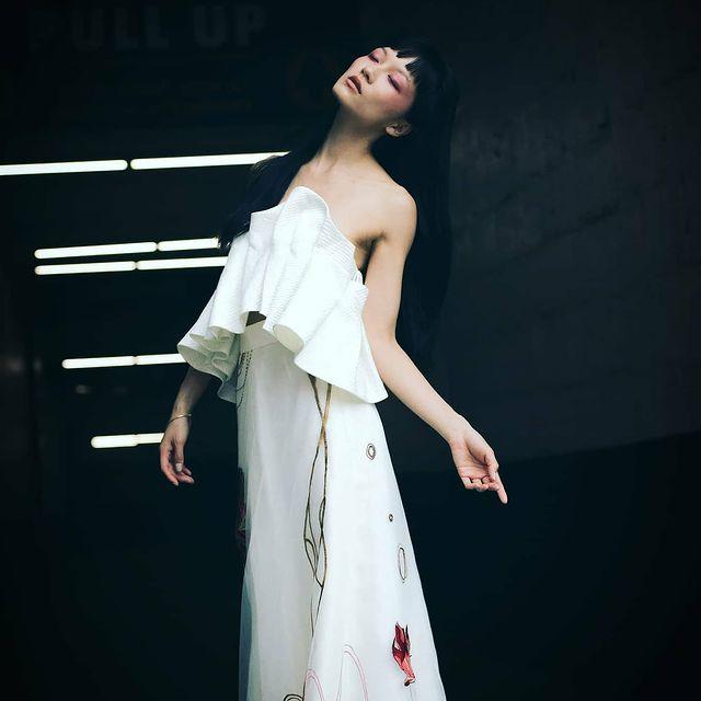 Dreaming of ☁️  Couture dress by @chavinofficial (Macau based Chinese Designer) Photo by @svetlanajovanovicny