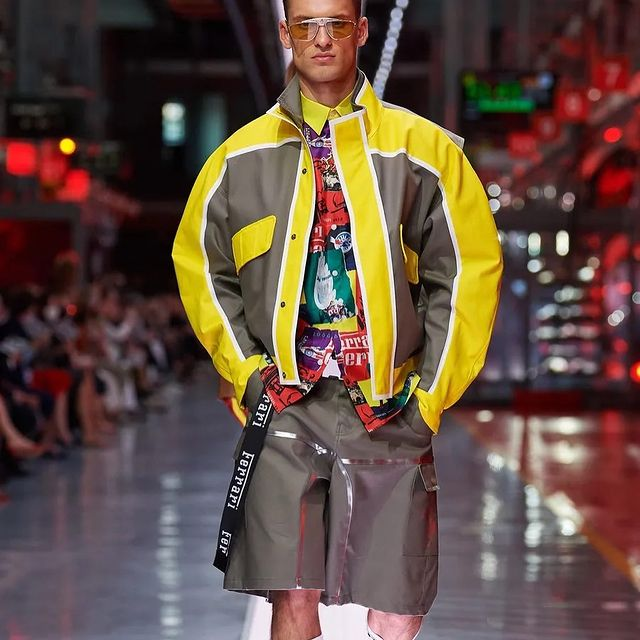 The first-ever fashion show by Ferrari @ferraristyle  . designed by @roccosrules  styled by @kjeldgaard1  @independent_mgmt