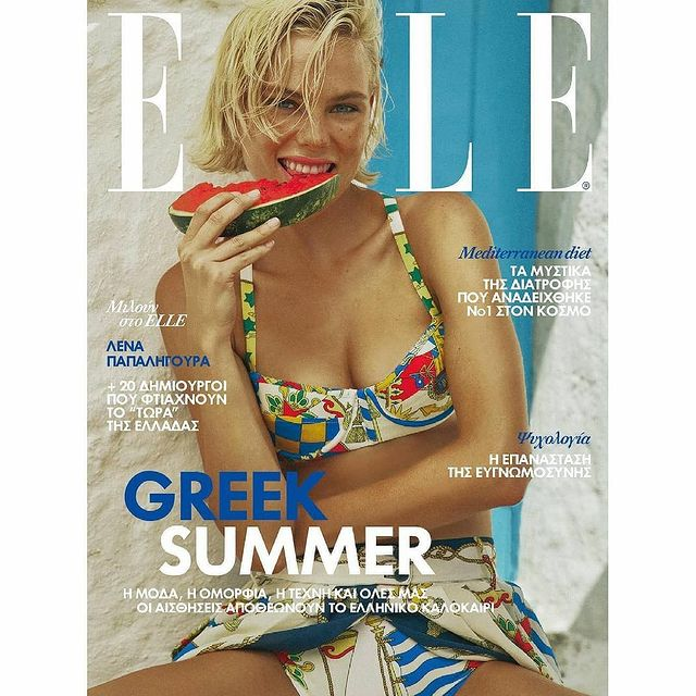 Coverstory for @elle_greece Juli issue 🍉  Thank you to the amazing team in Mykonos: @skoulos @sophiakossada  @christos_alexandropoulos @dpapadopoulos_photo 💙