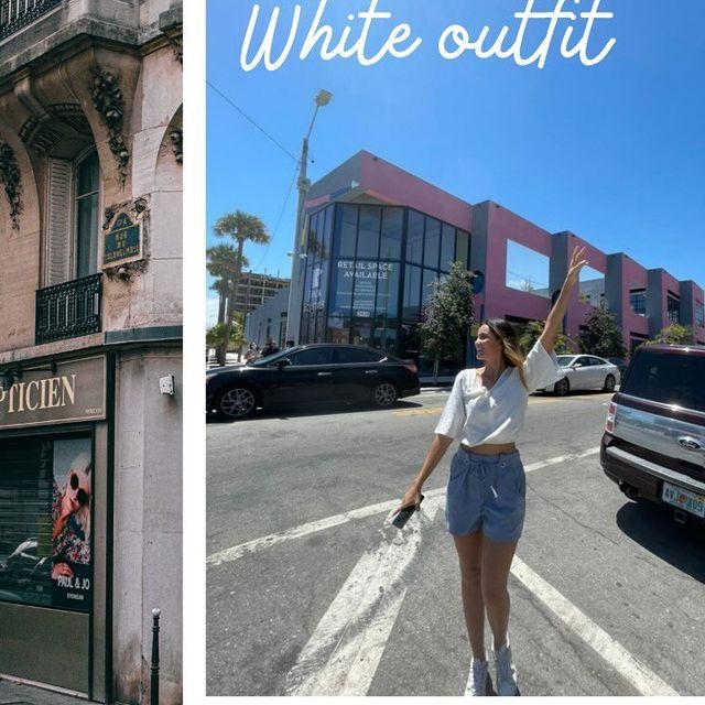4 outfits con una básica blanca❤️#outfits @questoficial_