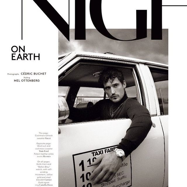 NIGHT ON EARTH @voguehommes @cedric_buchet @melzy917 —- wearing @tomford @hermes @gucci
