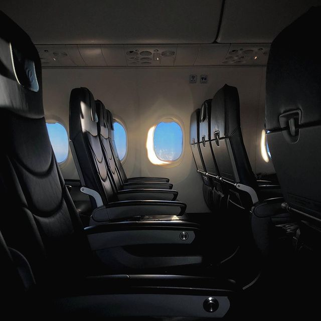 social anxiety approves of this empty flight I took a few months back