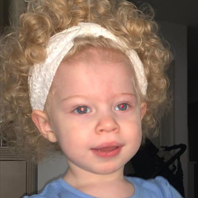 This is my youngest twin little Leni just wanted to post this pic because I love how curly her hair is and that's she's got a good bit of bounce going on #proudfuckingdadmoment #LittleLen #curlyhairdontcare #igotyourmoneybigpermimeanbigworm