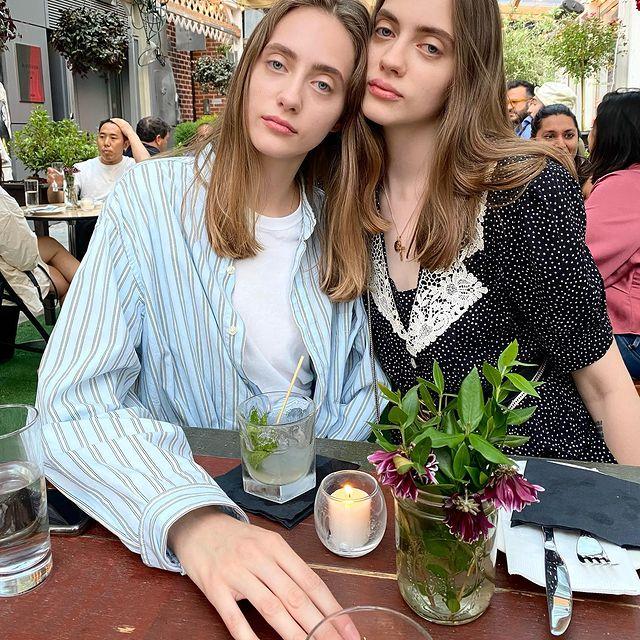 With my beautiful sister @odette.pavlova 🤍captured by @makeupbydmitry ☺️