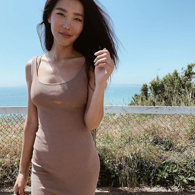 Salt on my skin + wind in my hair = serotonin #selfcare  . . . . . . . #summer #summervibes #dress #summerdress #asianmodel #beach #funinthesun