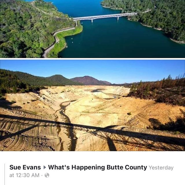 #climateemergency #drought #lakeoroville #california ….ideas #govegan #turnoffthewater #compost #stopdeforestation #recycle #garden #noplastic #savewater #growyourownfood #savetrees #recycle