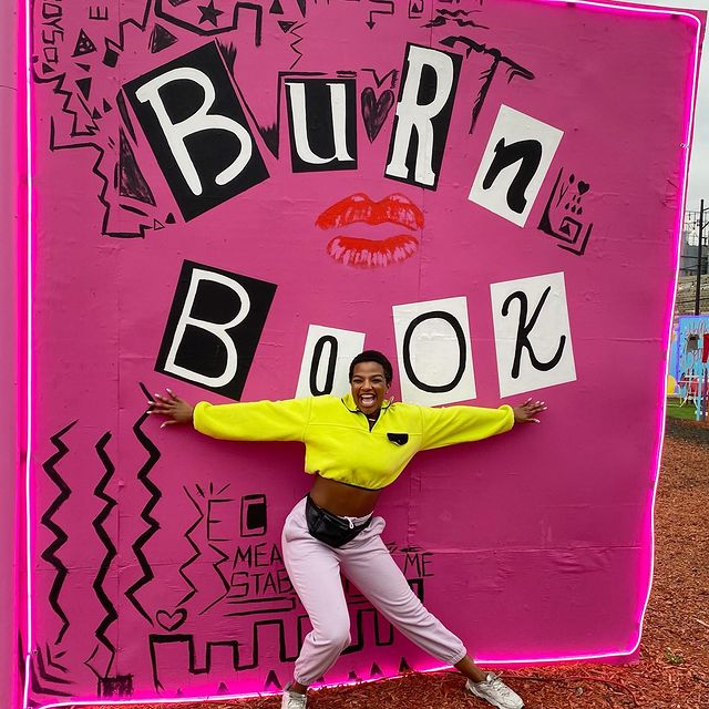 """""""Check it Out Cady it's our BURN BOOK """" 💕💕‼️ 😝😝 - #onwednesdayswewearpink #meangirls #happywednesday"""
