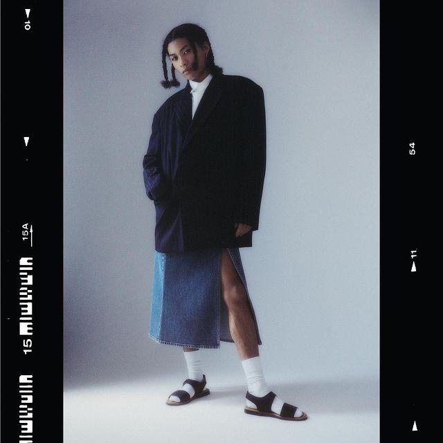MEN IN DRESS - by @pascalearnaud 🖤🖤🖤 for @duelmagazine feat @elsadurousseau ✨ @celine_charpentier ✨ @alix_pierson ✨