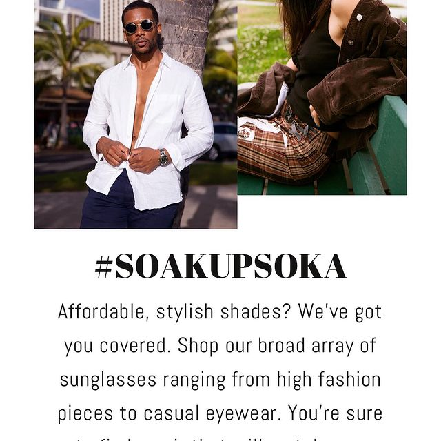 #ad Me for @sokasunglasses. Go grab yourself a pair by clicking the link in bio and using the code BARR15. Soak it up with Soka. 🏝 ☀️. . . . . . . .  #blackbusiness #blackowned #blackownedbusiness #blackgirlmagic #blackexcellence #supportblackbusiness #smallbusiness #explorepage #buyblack #entrepreneur #melanin #blacklivesmatter #blackbusinessowner #fashion #black #blacklove #love #blackwomen #sunglasses #supportsmallbusiness #business #blackentrepreneur #blackhistory #malemodel #blackpower #melaninpoppin #blackentrepreneurs #atlanta #beauty