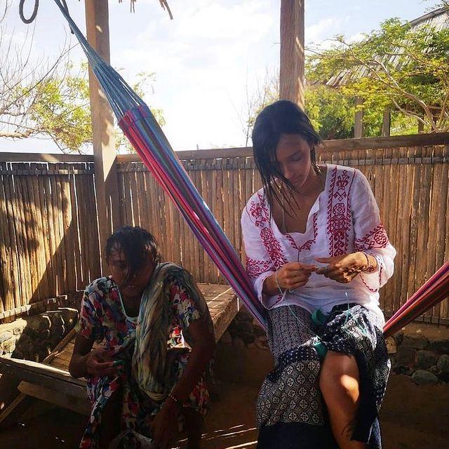 Learning from my ancestors; the wayuu weavers, my older sisters. - By weaving textiles, we weave ourselves.   Aprendiendo de mis  hermanas mayores, las tejedoras wayuu