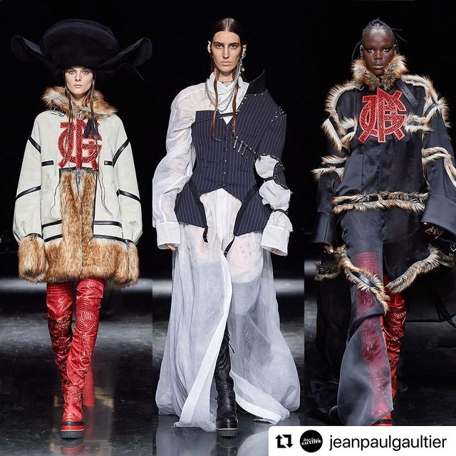 #Repost @jeanpaulgaultier ・・・ The Gaultier Paris by @sacaiofficial FW 2021-22 Haute Couture show.  Content by @bureaufuture.  Show by @bureaubetak.  #JeanPaulGaultier #Sacai #GaultierParis