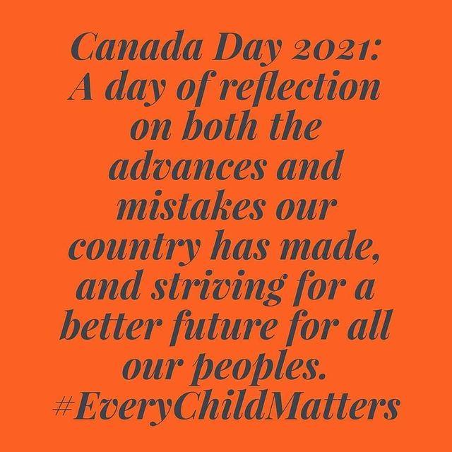 #everychildmatters #canadaday #wecandobetter #