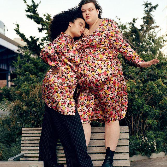 🌹GANNI🌹 Charlie and Diana for @ganni #MiLKCurve   Models @peachy.baby @mynamesdiana  Photography @courtsyy  Assistants @misplacedspace @dana_golan  Production @east__co @lauren_noonan  Film development @phtsdr