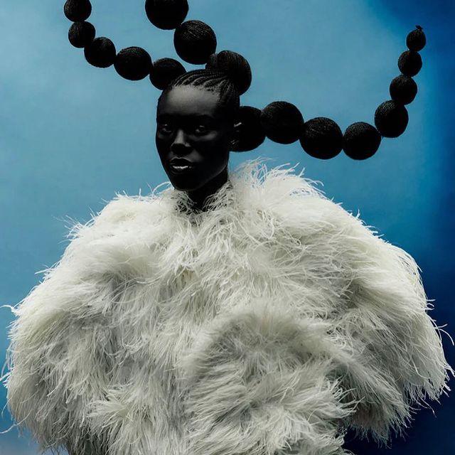 Mensah 💕in this amazing shoot for @wmag 2021 V5, The originals Issue…   Photography: @rafaelpavarotti_  Styling: @ibkamara  Hair: @jawaraw  Makeup: @thom.walker  Casting: @troy_casting  : : : : #wmagazine #benjaminmensah #ghanafashion