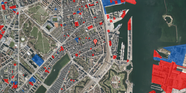 Jordforureningskort på Aggersborggade 3, 2. th, 2100 København Ø