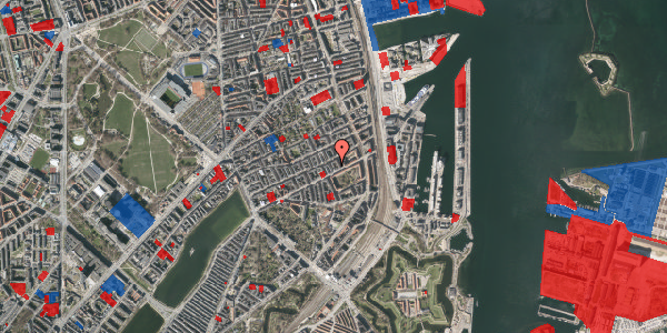 Jordforureningskort på Aggersborggade 4, 3. tv, 2100 København Ø