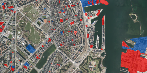 Jordforureningskort på Aggersborggade 5, 4. tv, 2100 København Ø
