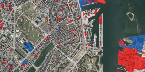Jordforureningskort på Aggersborggade 6, 4. th, 2100 København Ø