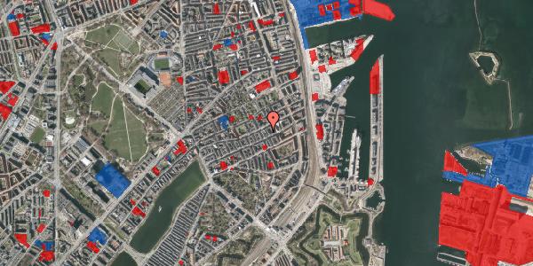Jordforureningskort på Aggersborggade 7, 3. th, 2100 København Ø
