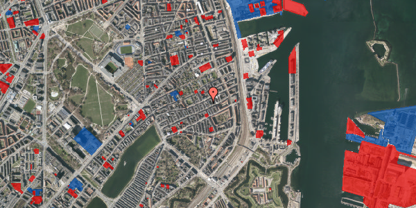 Jordforureningskort på Aggersborggade 7, 3. tv, 2100 København Ø