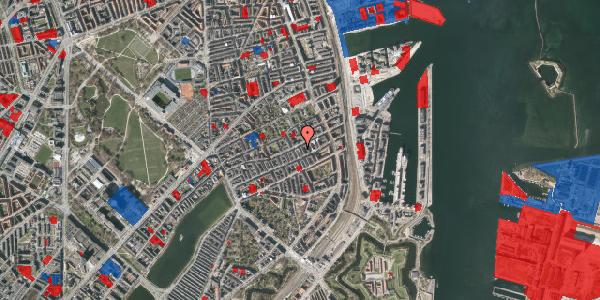 Jordforureningskort på Aggersborggade 9, 3. th, 2100 København Ø