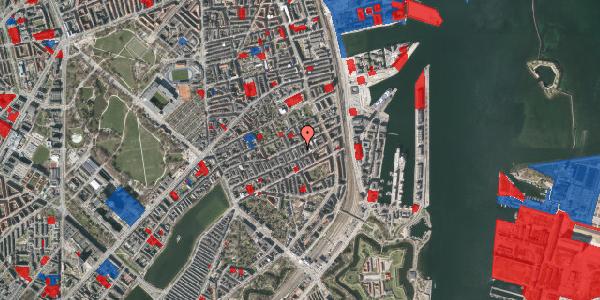 Jordforureningskort på Aggersborggade 10, 3. tv, 2100 København Ø