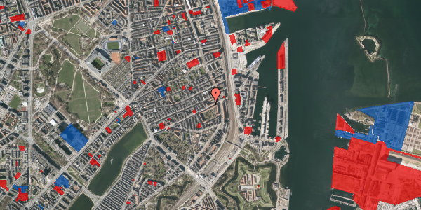 Jordforureningskort på Classensgade 61, 5. 1, 2100 København Ø