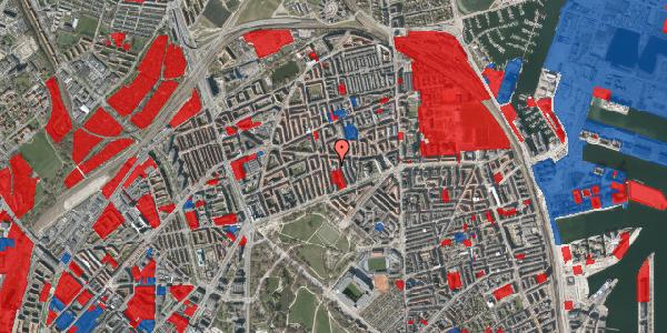Jordforureningskort på Hesseløgade 16, 2100 København Ø