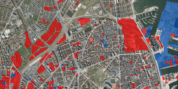 Jordforureningskort på Lange-Müllers Gade 11, 4. tv, 2100 København Ø